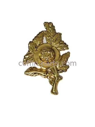 Europe Style Casket Accessories Gold Emerald Flower Casket Ornaments